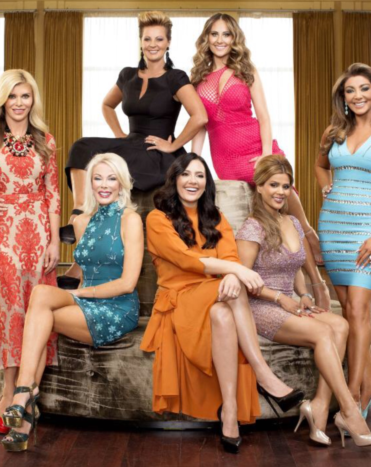 2014 season 2 The Real Housewives of Melbourne    Gamble, Janet, Chyka, Jackie, Pettifluer, Gina and I.