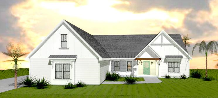 Pre-render of the first model home in Montage at Ocean Commons.