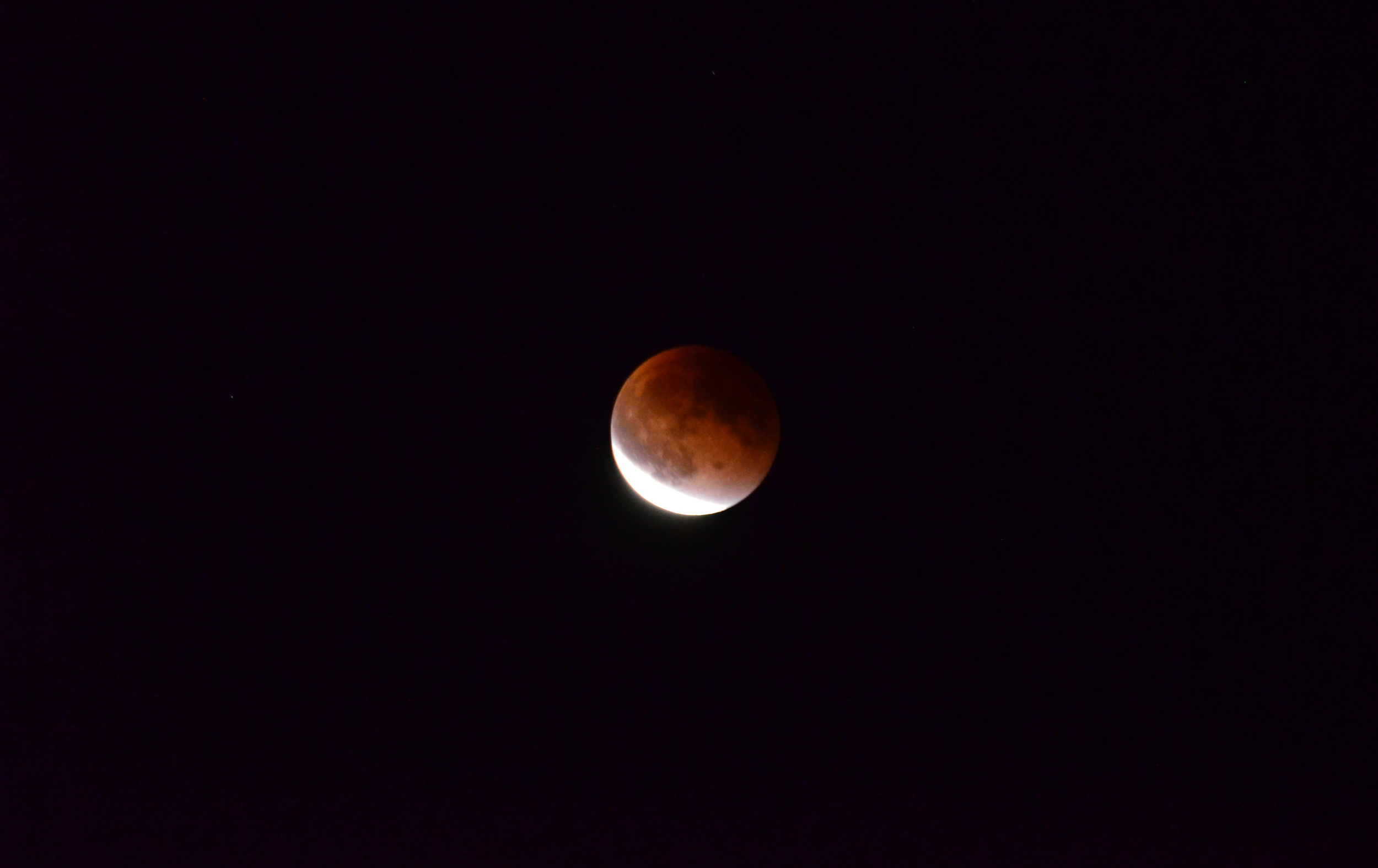 The lunar eclipse we stayed up to see last September.