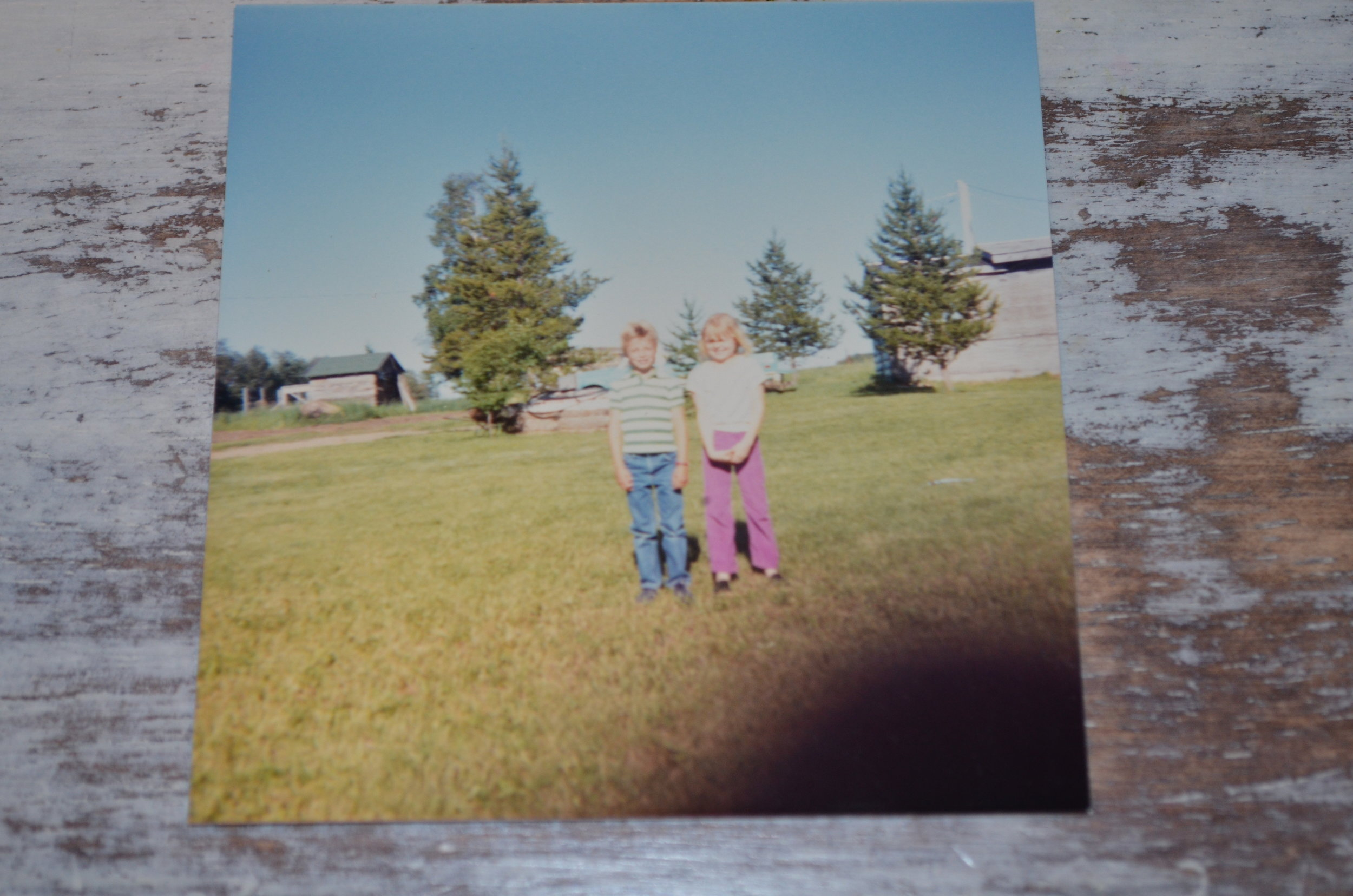 One of the only pictures I have of our trip to Alberta. I loved hanging out with my Canadian Cousins. (That's me on the right) Even though I don't have many pictures, I have held on to some amazing memories.