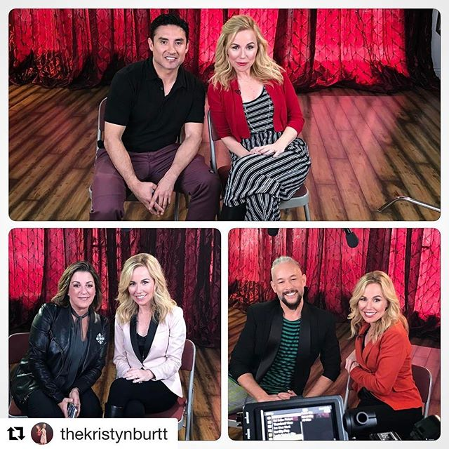 So wonderful chatting with you!#Repost @thekristynburtt ・・・ Next round of #DanceIcons interviews shot! 🎥 Many thanks to @suavo, @kevinstea and Julie McDonald of @msaagency for sharing their incredible wisdom and stories. 💃🏼 Coming soon on @watchdancetv! 💄And thank you to @shughey8 for the beautiful hair/makeup that I kept ruining from blowing my nose 🤧😷🤧