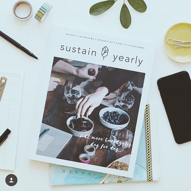 Hey there, I just wanted to share some exciting news with you!  @sustainyearly 🌱is in year two of publishing their annual magazine and they need a little bit of love 💚from you guys.⠀ .⠀ If you don't know about @sustainyearly, they are a premium sustainable lifestyle magazine published in Danish and in English.  This magazine is all about slow and sustainable living, healthy recipes, ethical fashion, gardening, 🌿 etc.⠀ .⠀ You can either download this annual magazine and read it electronically, or you can have them send you the magazine in print to your house anywhere worldwide.⠀ .⠀ The link to their Kickstarter video is in my bio ☝🏾, so I suggest you check it out.  And you can also pledge anywhere from $8 without a reward, to $25 in order to receive one electronic or printed magazine.⠀ .⠀ Alright, so show the team that has worked so hard on this magazine a little love by watching the video and making a pledge by March 4th!  Peace y'all!⠀✌🏾😘 .⠀ 📸: @sustaindaily . #ecomagazine #ecolove #sustainability #sustainyearly #slowmagazine #slowpublishing #ethicalmedia #sustainablemedia #sustainabilityinstyle #lifestylemagazine #sustainablelifestylemagazine #circulareconomy #seekthesimplicity #greenliving #consciousconsumer #responsibleliving #responsiblestyle  #greenmagazine #greenlifestyle