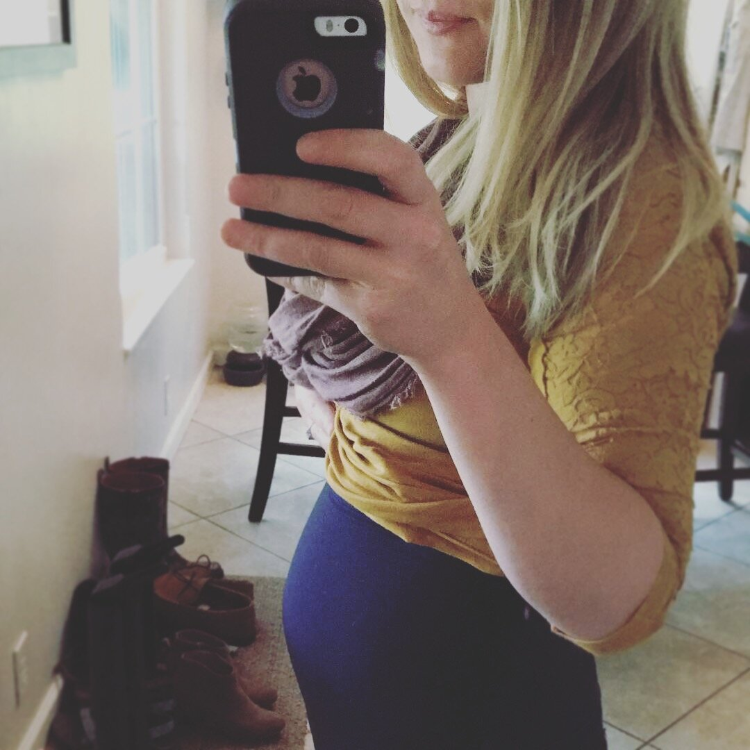 About 2-3 months pregnant here.