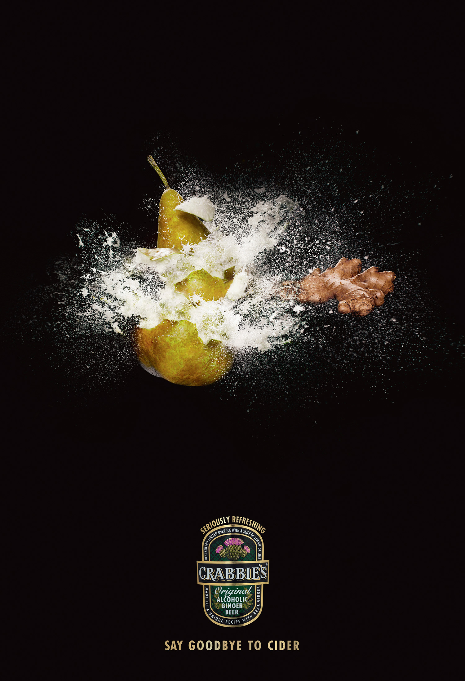 Crabbie's Ginger Beer  Agency:Droga 5  Art Director: Cam Blackley  Retouching: Toby & Pete