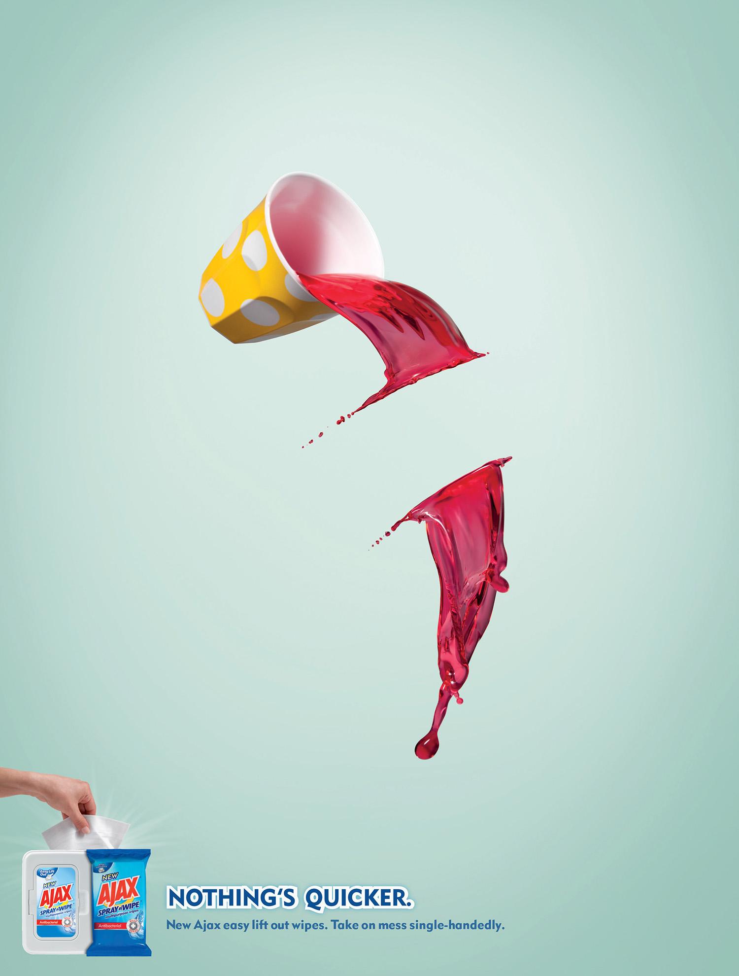 Ajax  Agency: Y&R New Zealand  Art Director: Tony Haigh  Retouching: Cream Studios