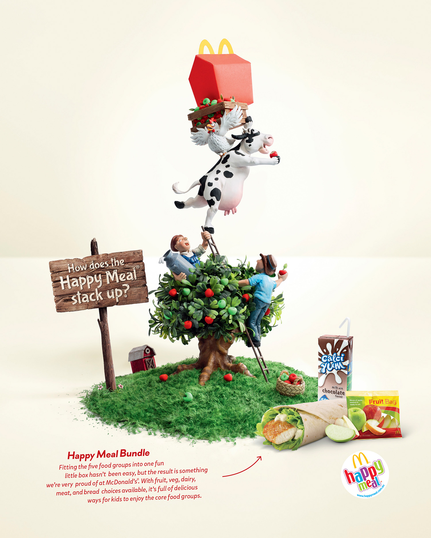 McDonalds  Agency:Leo Burnett  Art Director: Brendan Donnelly  Copywriter: Guy Futcher  Retouching: Electric Art