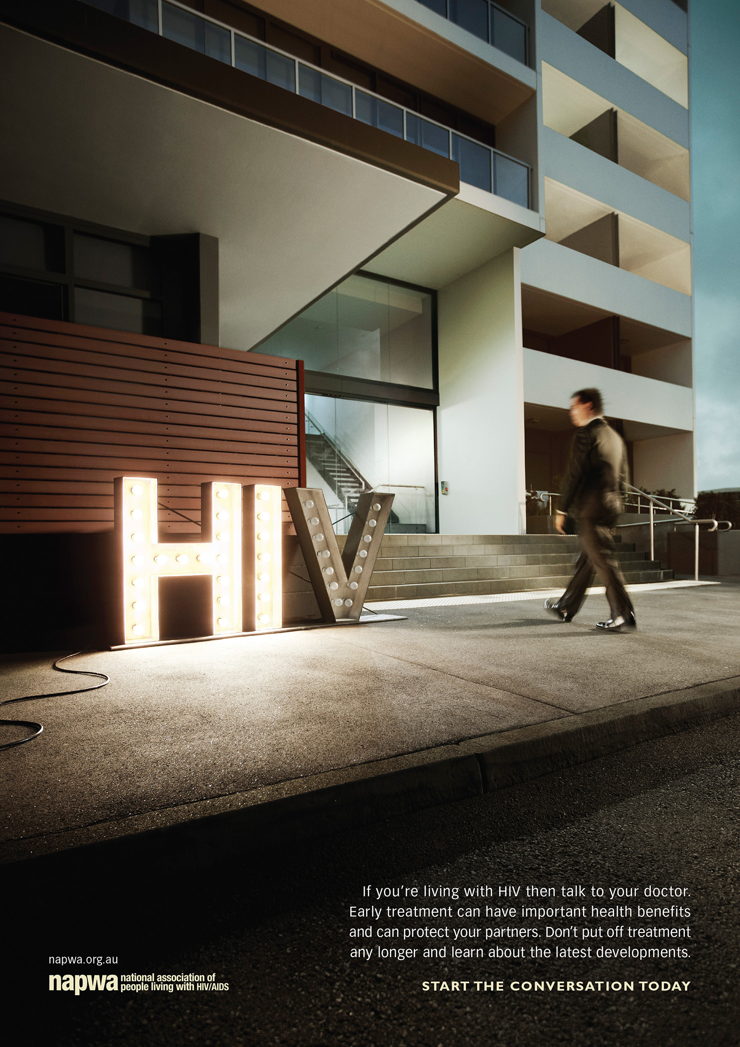 Client: NAPWA       Agency: Ward 6     Art Director: Richard Price       Copywriter: Hugh Fitzhardinge     Retouching: Cream