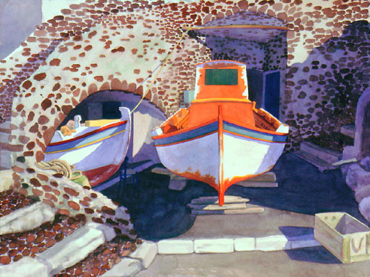 Boats of Ammoudi