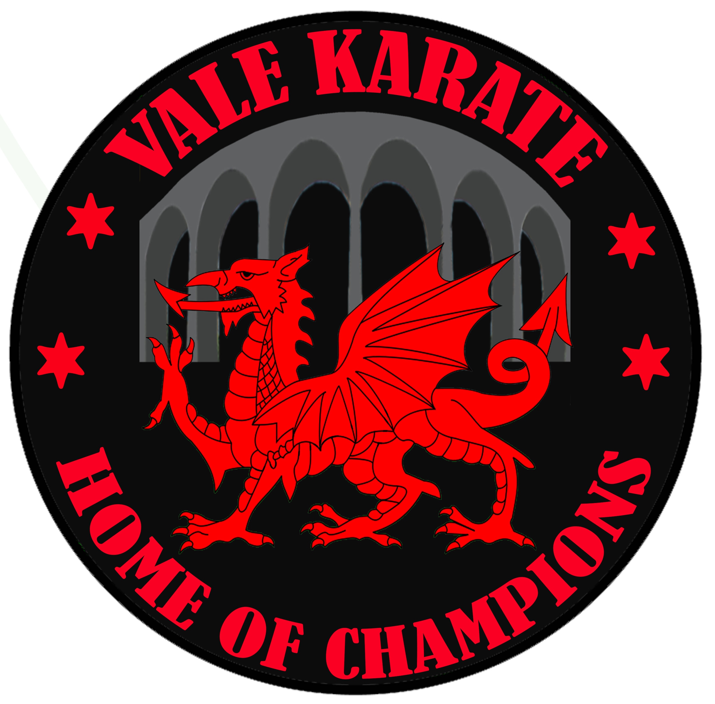 Our new badge features the Welsh Dragon, and perhaps The Vale's most famous landmark; Porthkerry viaduct.