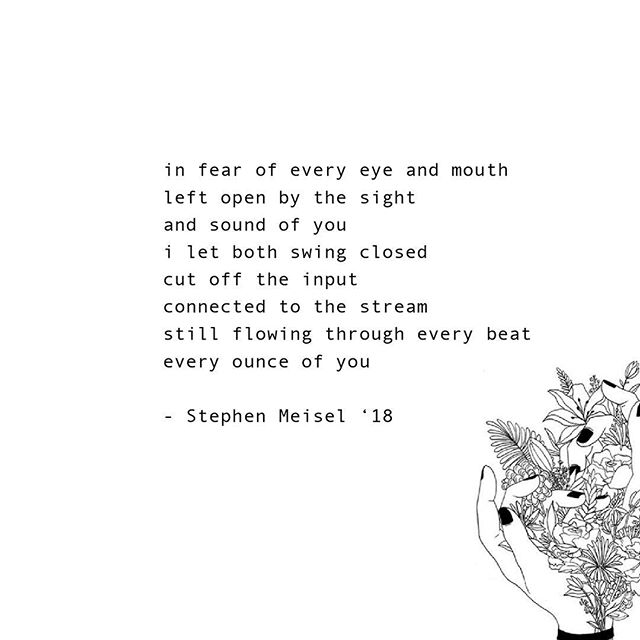 love poem #5 by stephen meisel '18 // #poet #poetry #marginalia
