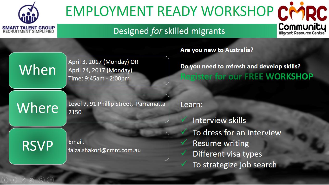 Employment Ready Workshop STG CMRC Flyer.png