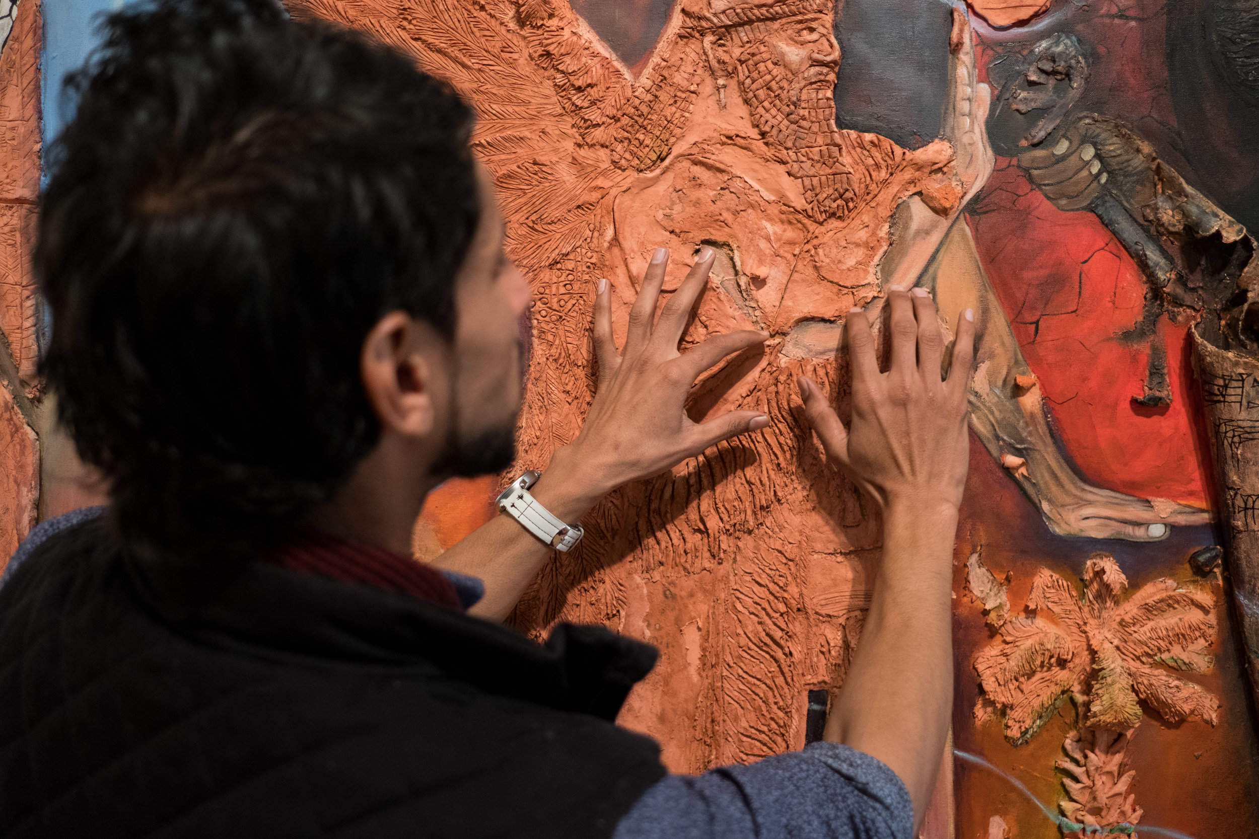 Mohanad intimately details the meaning behind his work