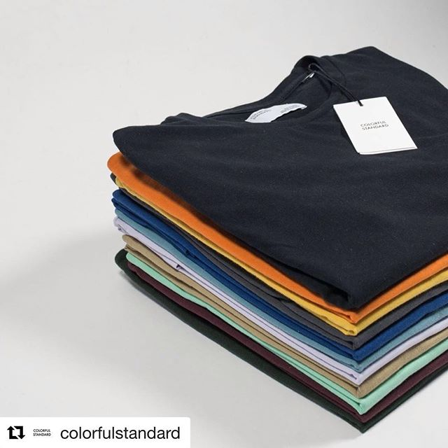 SIMPLY AS IT IS! COLORFUL STANDARD. ❤️💛💚💙💜. . #fnv #fnvitaly #fnvshowroom #colorfulstandard #unisex #tees #basic #menfashion #womanswear #denmark🇩🇰 #italy