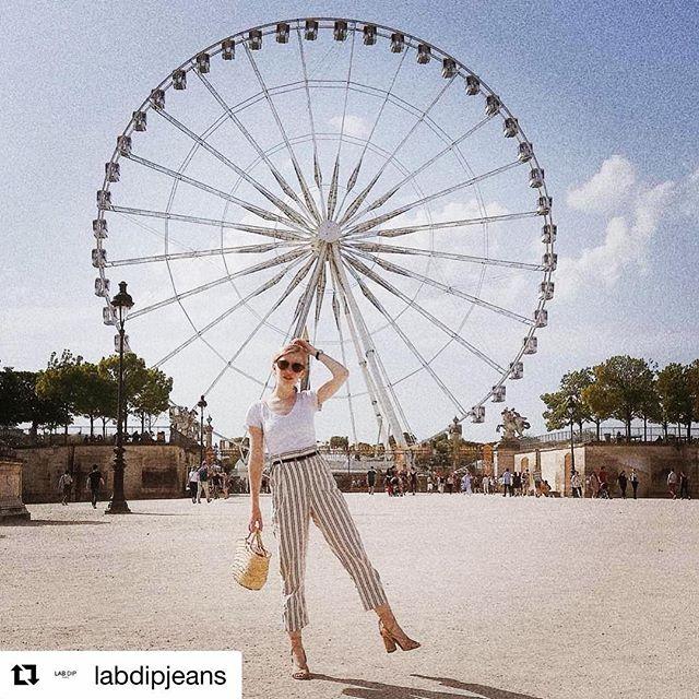 LAB DIP Paris 🎡. #labdipjeans #stripes #pants #cool #paris #parisienne #womenfashion #fashionnovictim #italy
