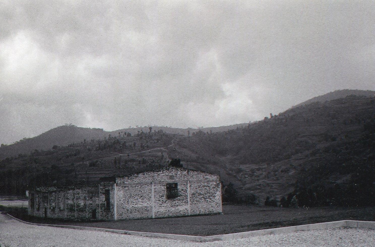 School on a hillside in Murambi, Gikongoro province, Rwanda. Site of a Tutsi massacre in 1994.