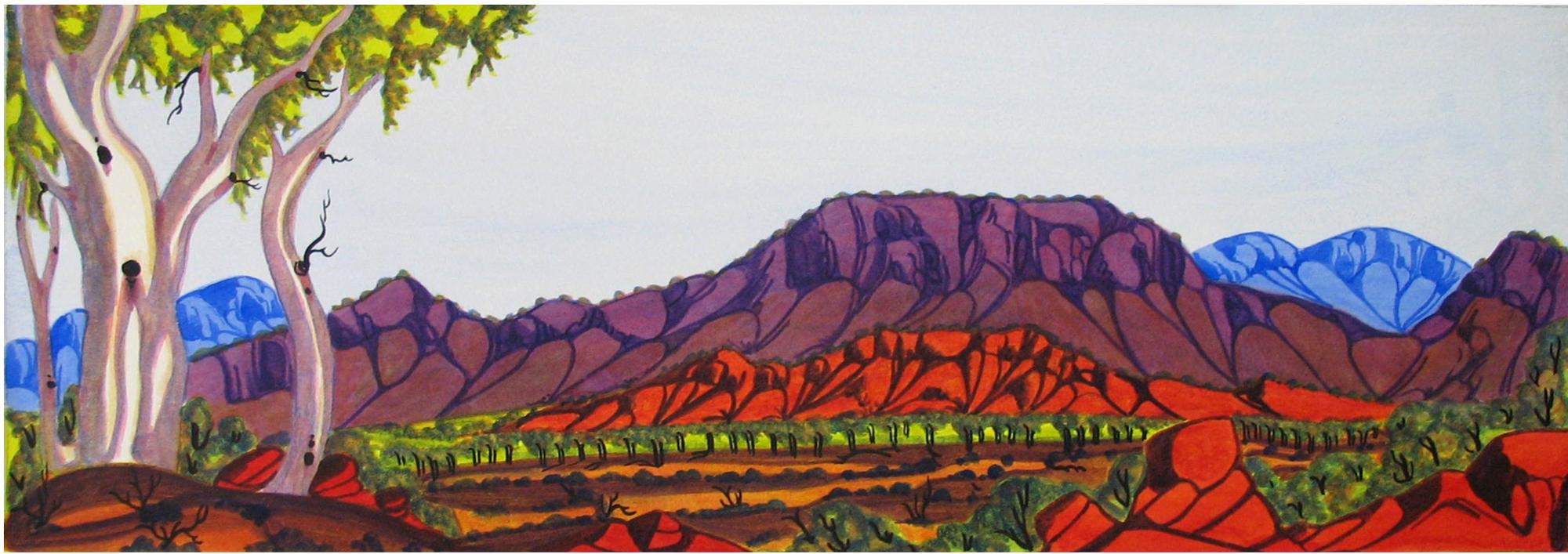 Mervyn Rubuntja, Central Australian Landscape