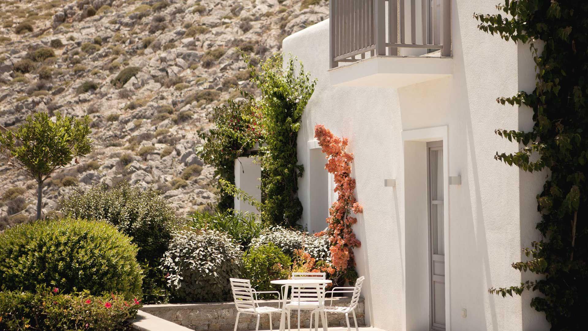 The garden at  Perivola, Santorini