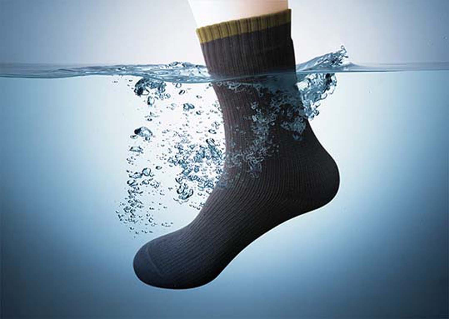So waterproof, you're feet would stay dry in a bucket of water!!