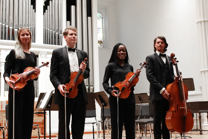 Julie Di Lecce (violin 1), Nathan Clifford (violin 2),   Zaria Graves (viola), Jonathan Dills (cello)