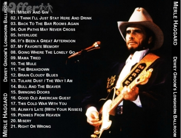 Merle Haggard recorded in-concert at the Longhorn