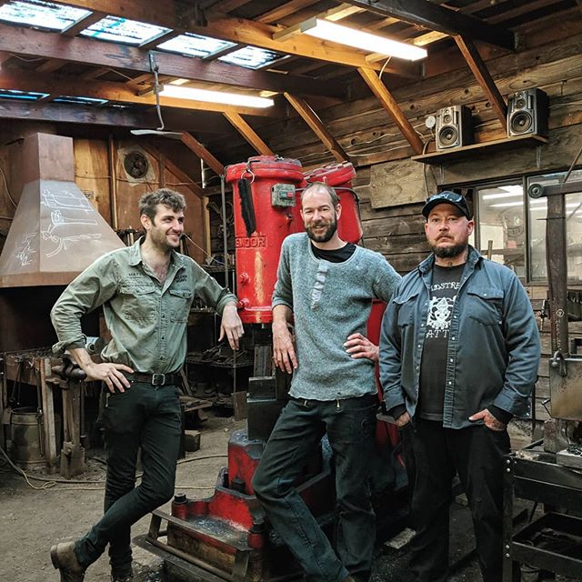 "Next installment of ""Blacksmith on Tour"". Hanging oot in the shop of supersmith Jake James of Jake James fame.. Thanks so much, it was real cool to mess around in the shop with you guys, drive the Demoor and check out the Franken-massey.. Vancouver island is beautiful and I loved the stay but alas, I must be off.."