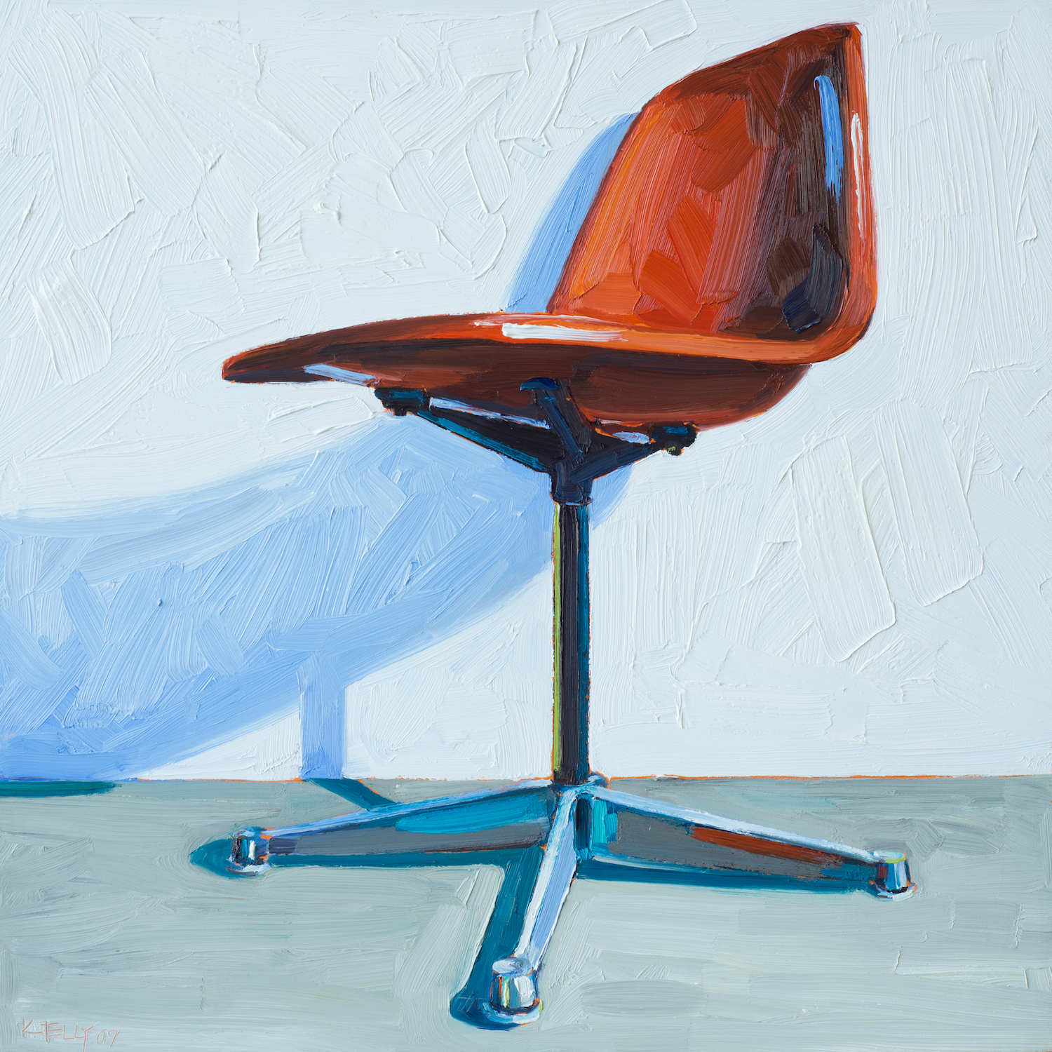 Eames Rust Side Chair Right View, 2007