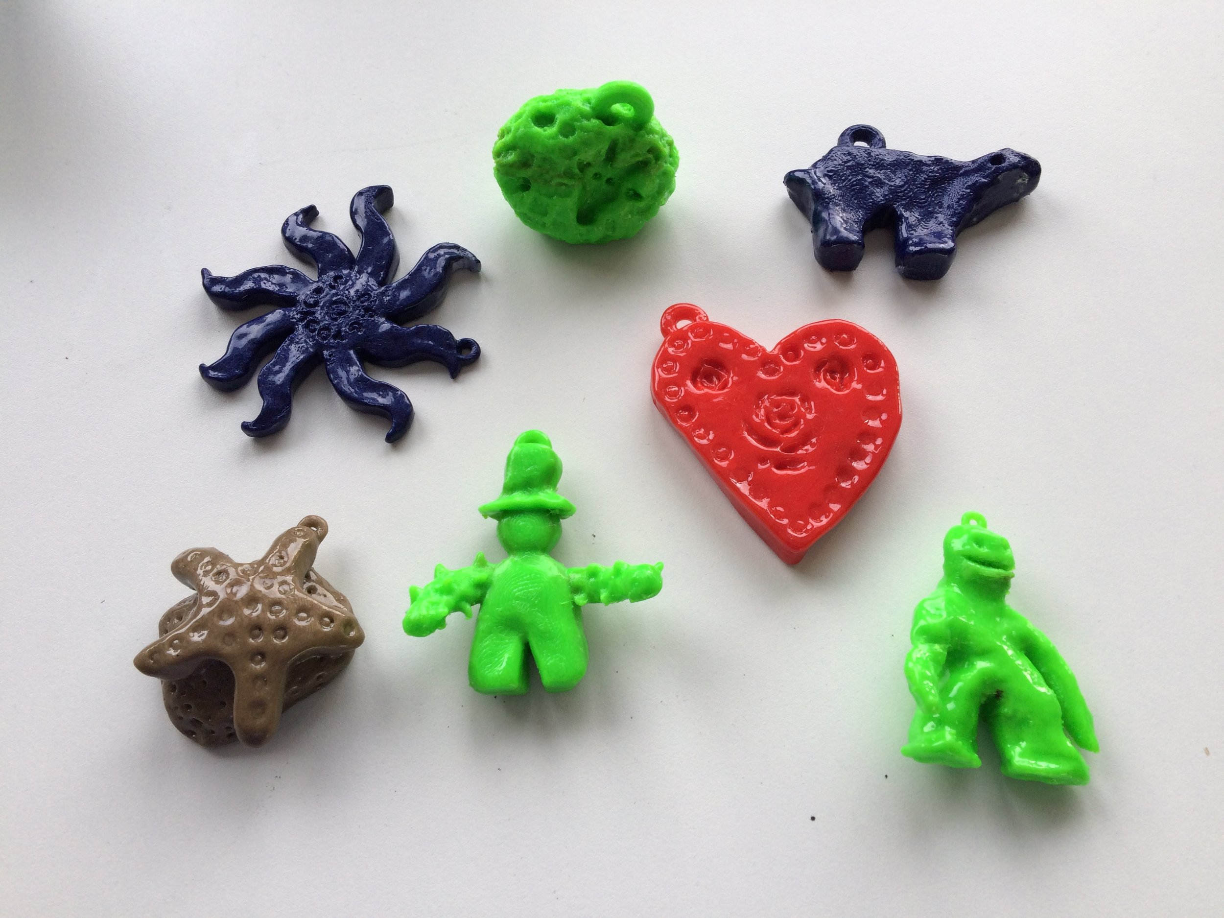 3D printed objects created by Varndean Year 7 students