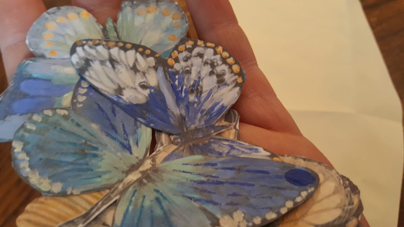 I love the shimmer and detail each individual butterfly captures.