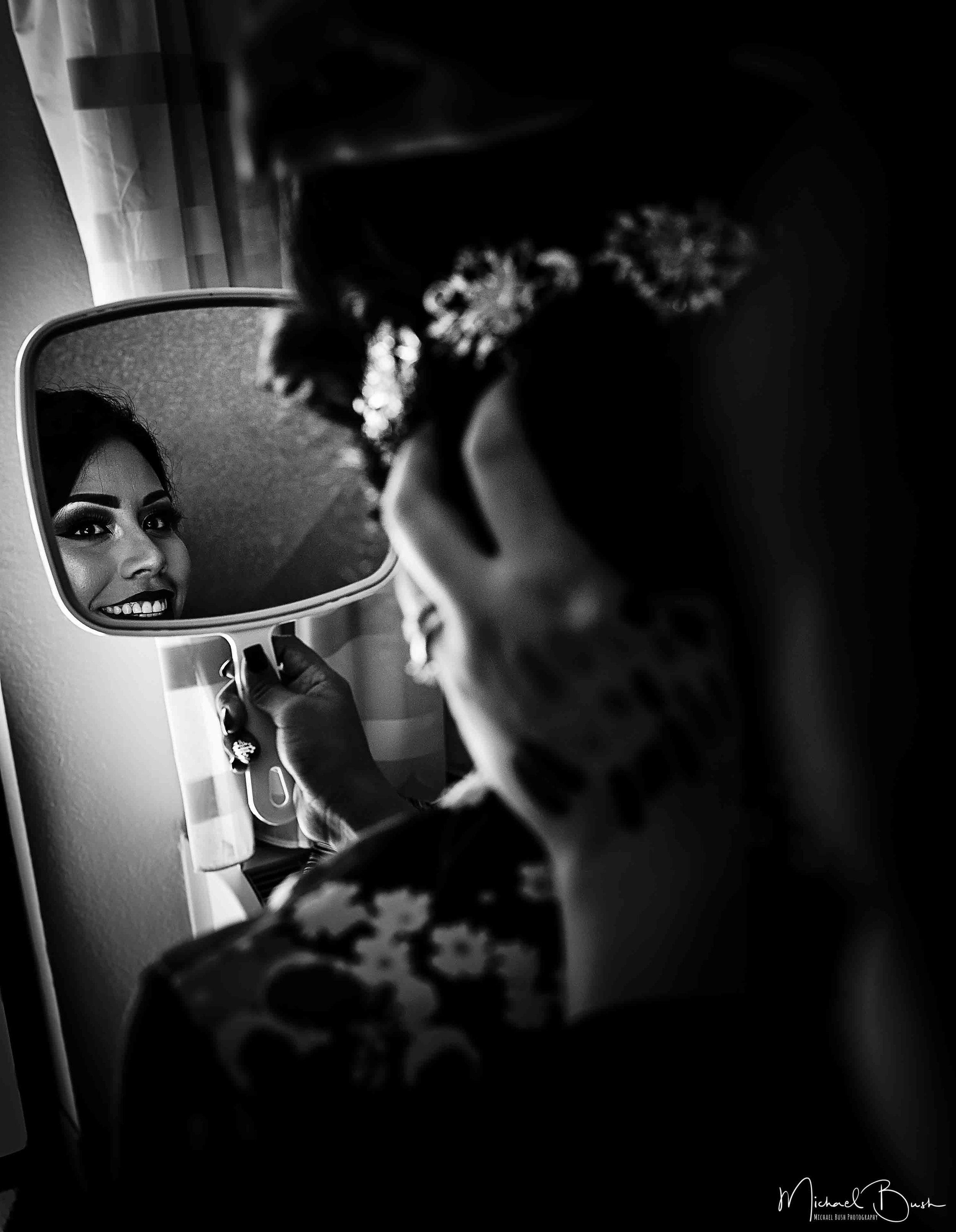 Wedding-Details-Bride-Fort Worth-colors-Getting Ready-MUA-brides-b&w-reflection-mirror.jpg