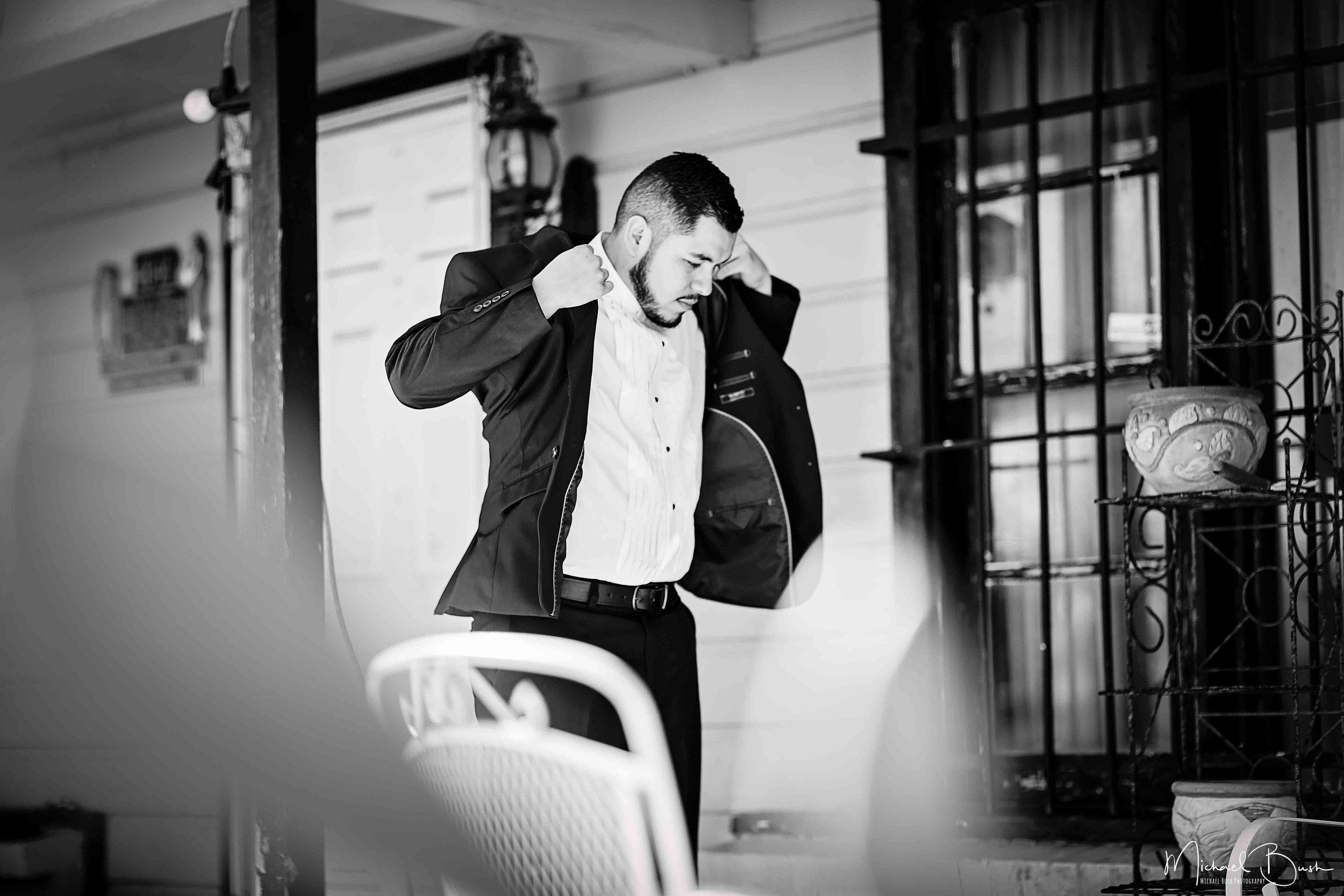 Wedding-Details-Groom-Fort Worth-b&w-Getting Ready-Tux-jacket.jpg
