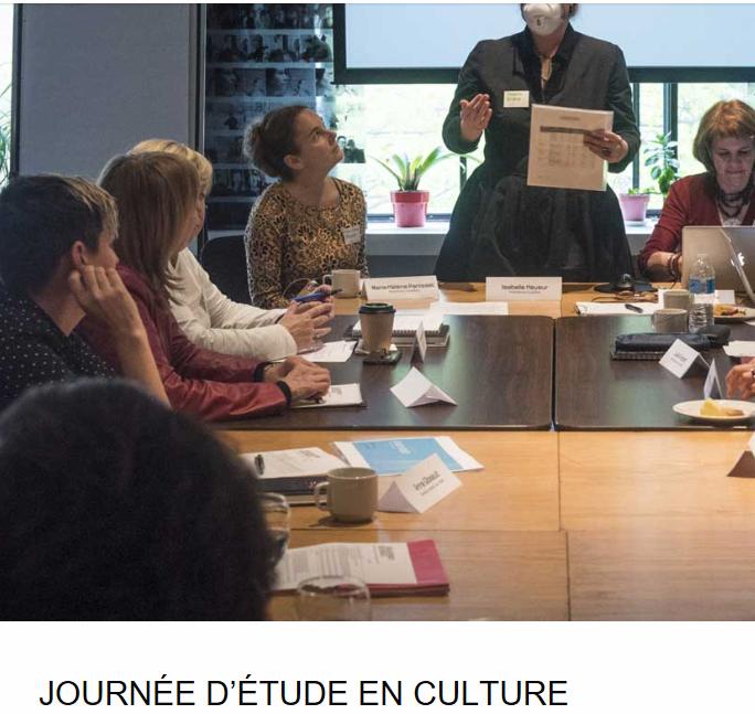 JOURNÉE D'ÉTUDE EN CULTURE