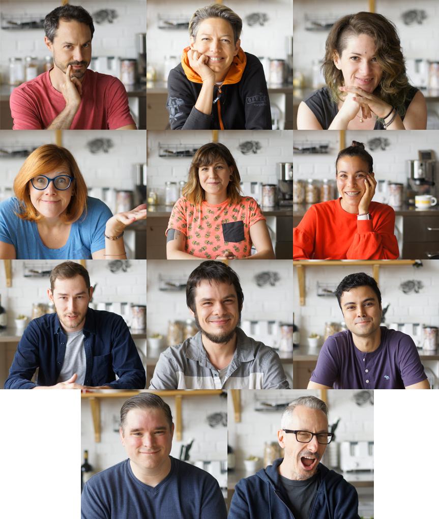 Nicolas, Anne, Jade, Sabrina, Raphaelle, Nancy, Valentin, David, Mohamad, Stephane and Martin.