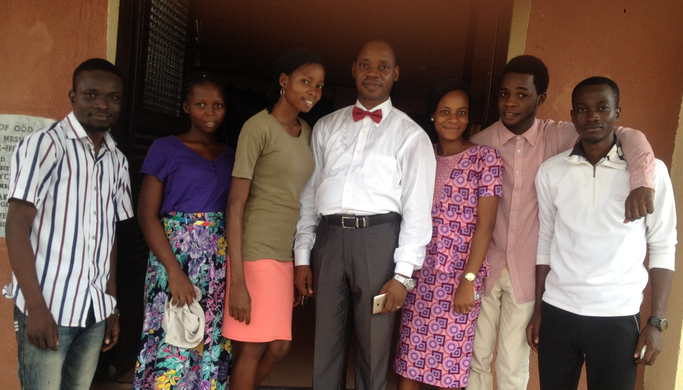 Rev Dr. Ogunlusi with some of his Alpha team