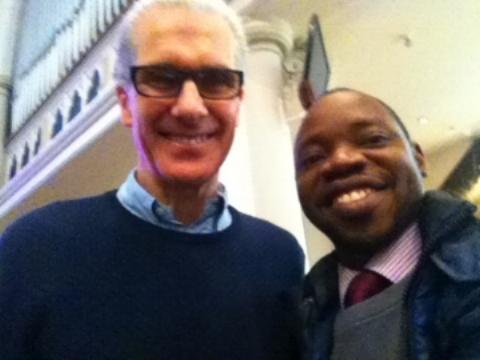 Rev. Dr Ogunlusi (Left) and Nicky Gumbel During the Alpha Leadership Conference