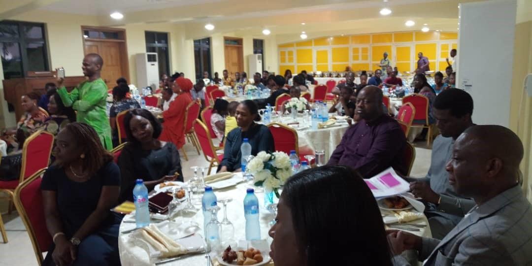 At the celebration Dinner