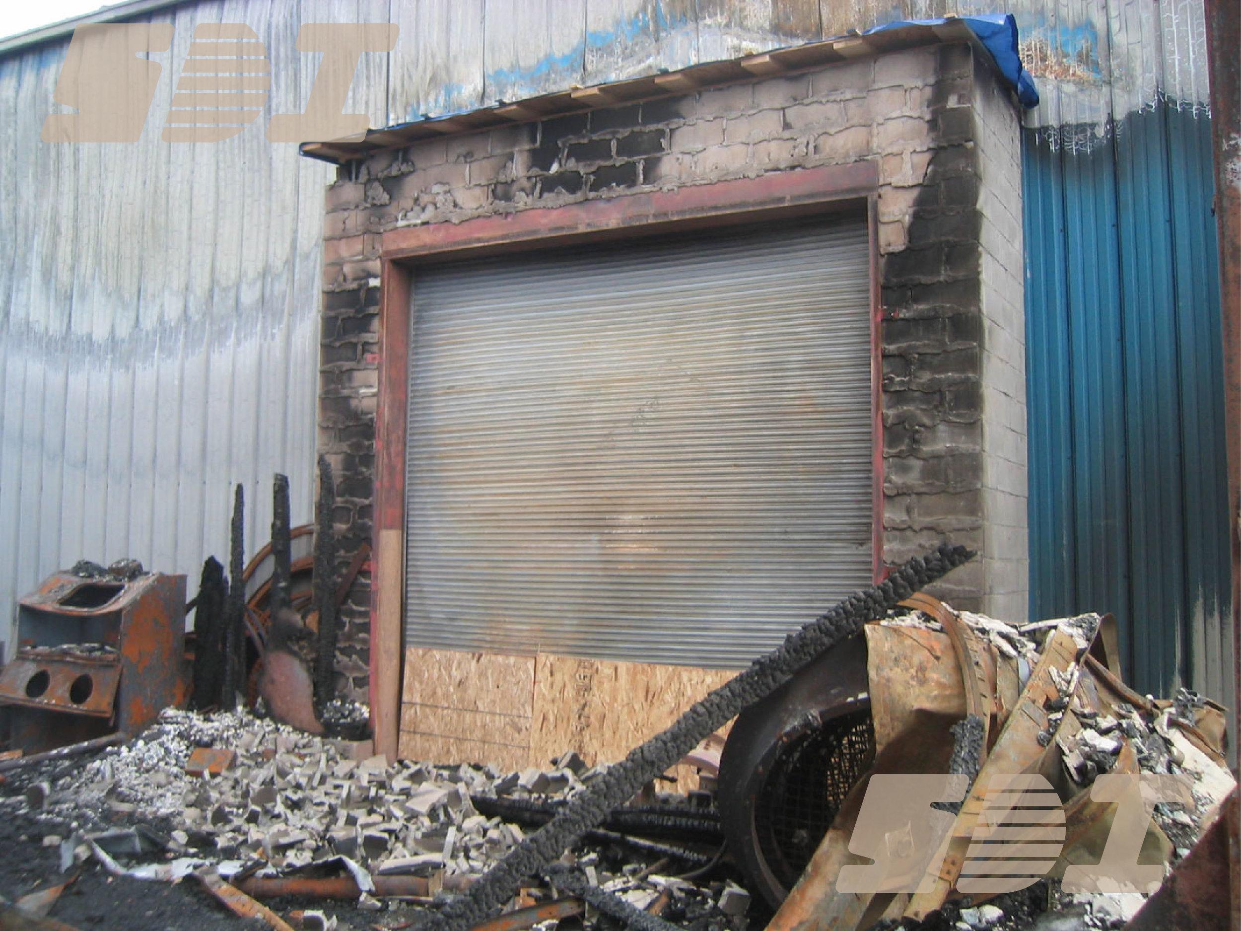 Fire Door - Burnt