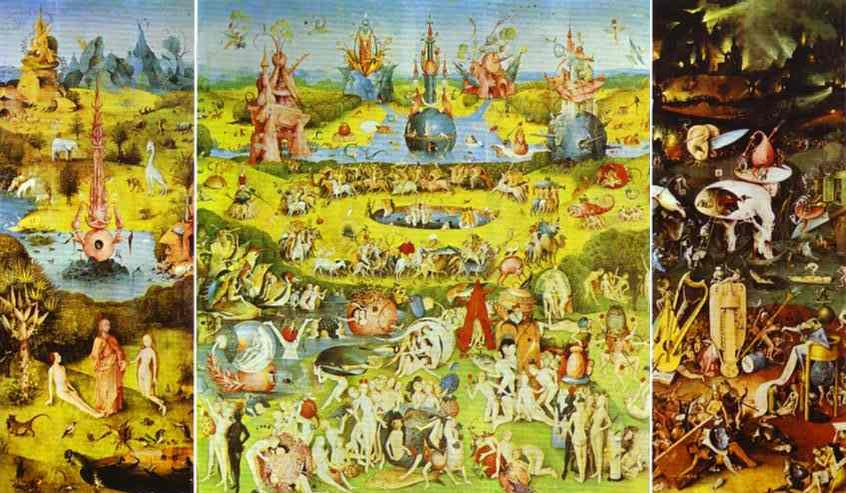 Hieronymus Bosch, The Garden of Earthly Delights (1490-1510)