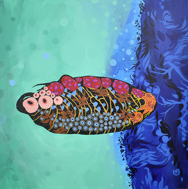 """From Manta Ray to Gamma Ray   24""""x24"""", acrylic on canvas"""