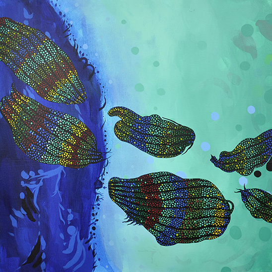 "Allure   24""x24"", acrylic on canvas"