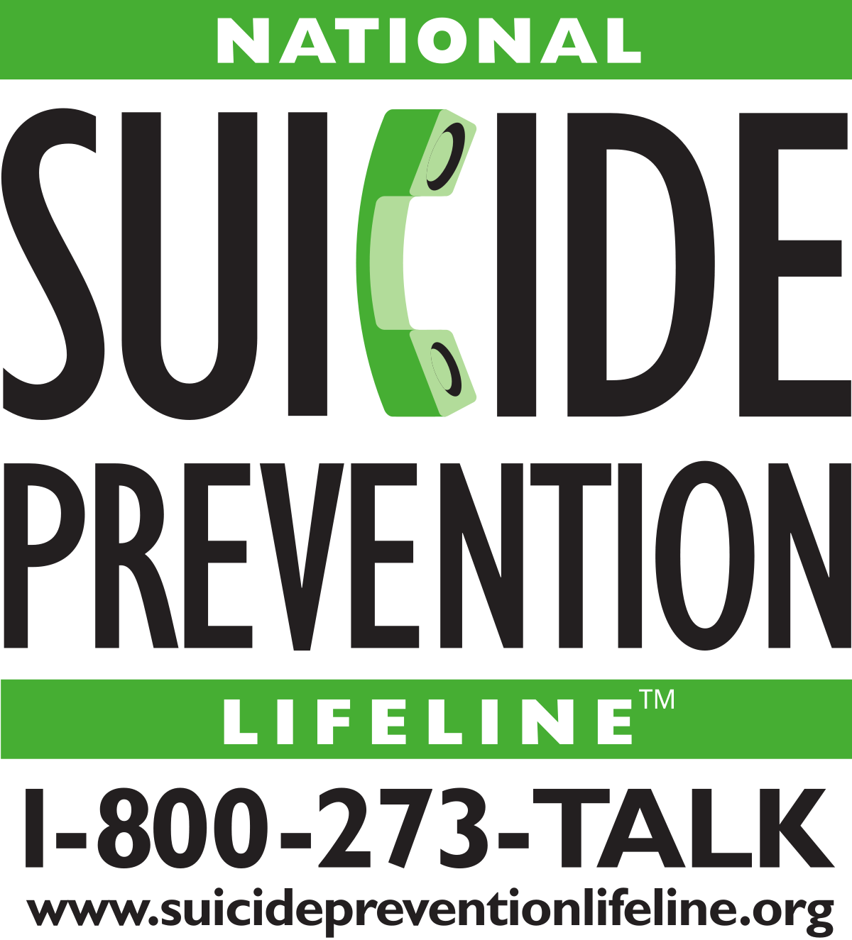 National Suicide Prevention Lifeline 1-800-273-8255 - Whether you are personally in crisis or you are concerned about someone who is, you can ALWAYS call 1-800-273-TALK and get a listening ear, resources, and support 24 hours a day, seven days a week. This hotline does not close on the weekend, holidays, or during bad weather.Veterans, please press 1.En español oprima el 2. For hearing & speech impaired with TTY equipment 1-800-799-4TTY (4889)