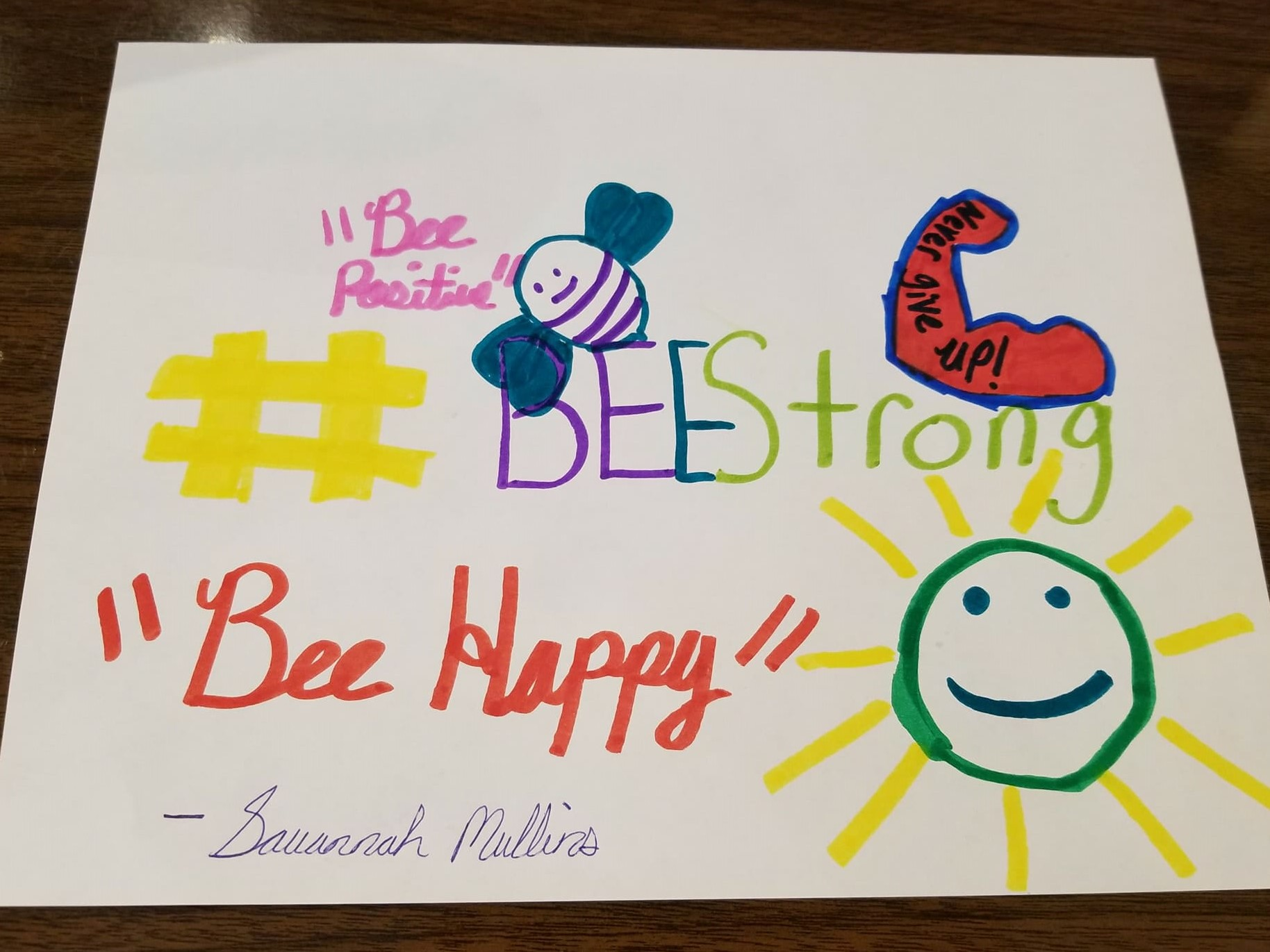 #BeeStrong Campaign - Savannah Mullins /  Youth Advisory Board Chair
