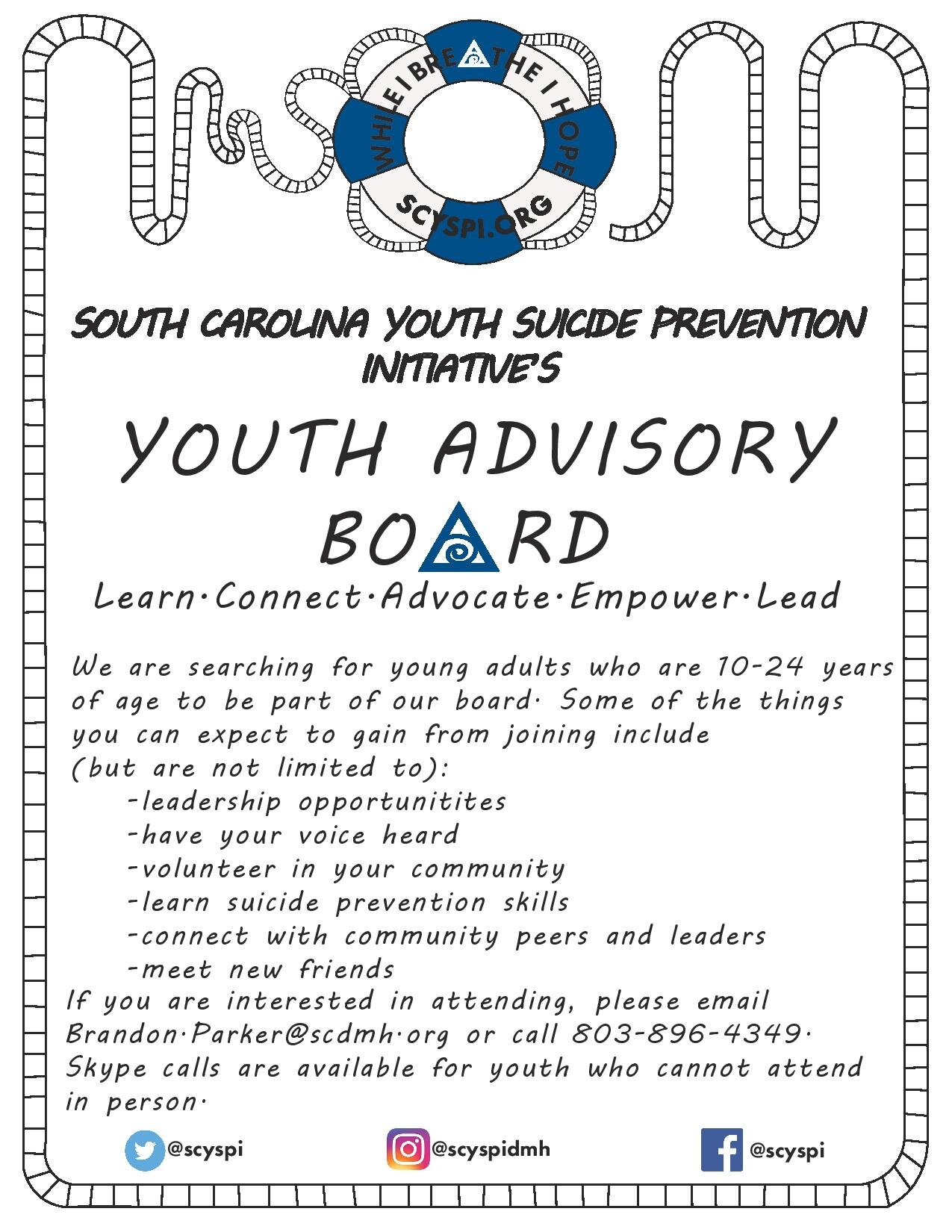 Youth Advisory Board Flyer - Click to view PDF