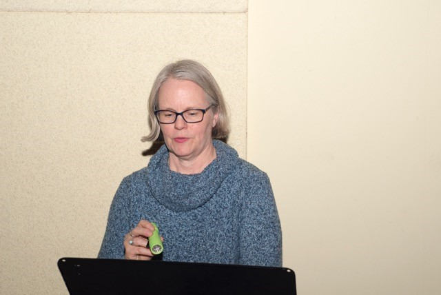 Bev Cooper, Dramaturge, reading..jpg