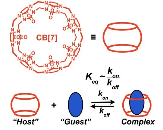 - High-Affinity Non-Covalent RecognitionHost–Guest supramolecular motifs can be designed to enable high-affinity recognition with tunable dynamics for biomaterials and/or drug delivery devices leveraging binding affinity or dynamics for enhanced function.