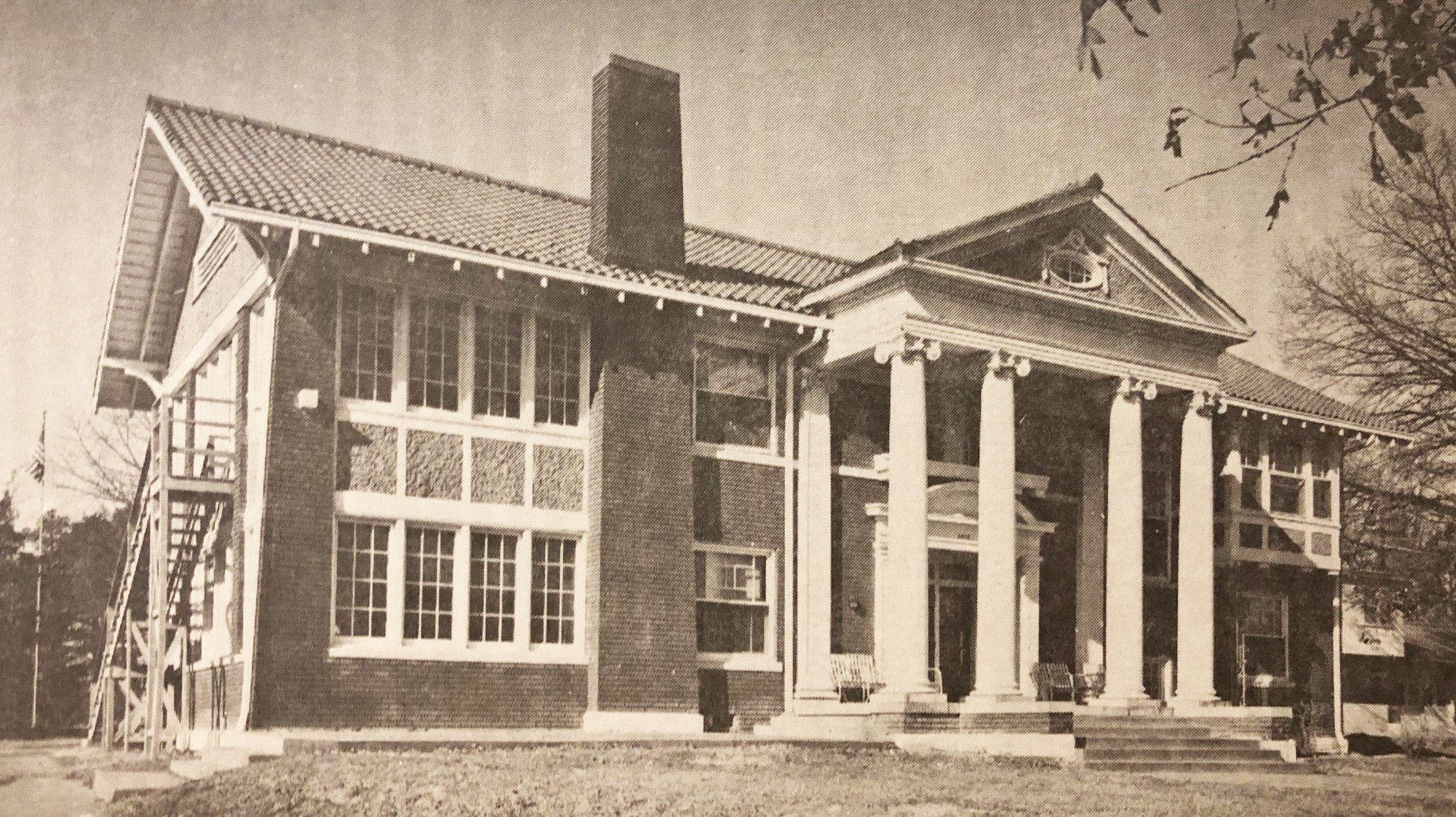The Brack Mansion, 1947. The house was the original home to Arkansas Enterprises for the Blind.