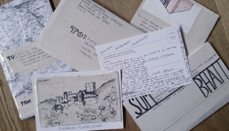 Snail mail to friends in Berlin, Sweden, London, New York City and Providence.