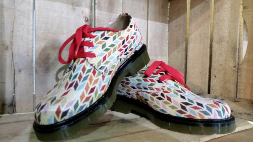 The shoe company   Risorse Future Style   uses materials like biodegradable plastic, vegetable tanned leather, hemp, and cork and are assembled in the Monte Urano region.