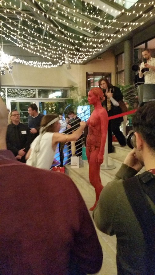 The     Interpoma 2016 International Apple Trade Show   commemorated its 10th anniversary by hosting a series of celebratory events in Bolzano. On Thursday, a fashion show and bodypainting performance were held at the Sheraton.