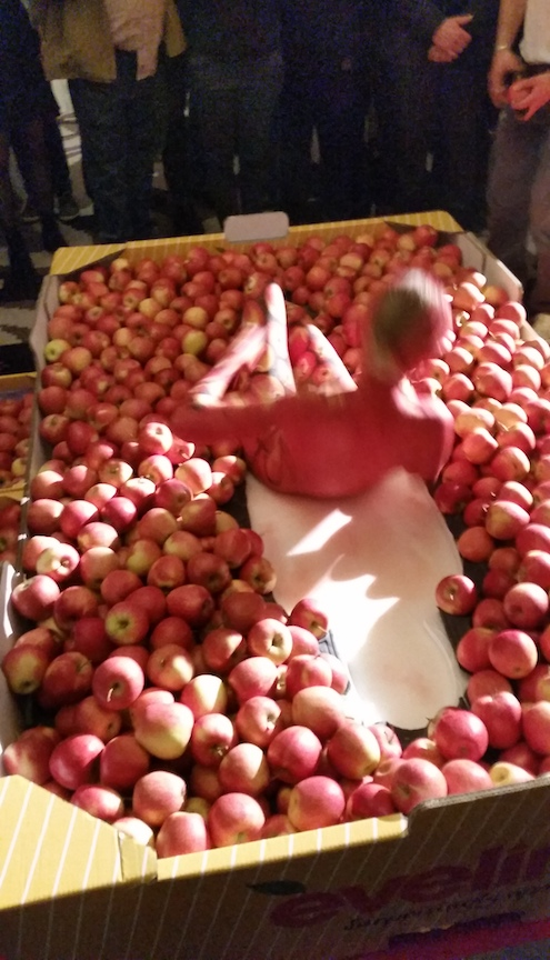 After the model was painted, she laid in a box of South Tyrolean apples....