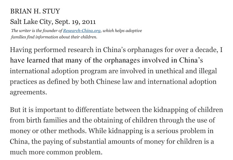 http://www.nytimes.com/2011/09/23/opinion/adoptions-from-china-seeking-the-truth.html